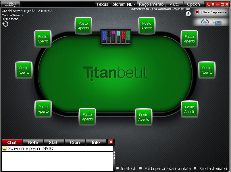 titanbet tavolo