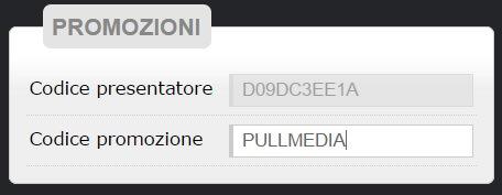 codice promo