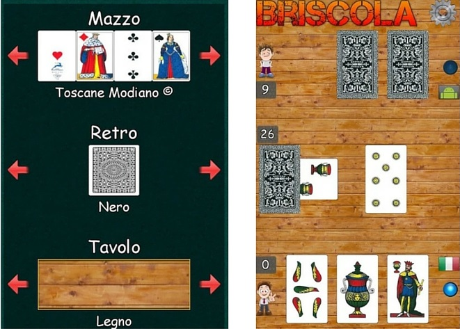 briscola carte Modiano