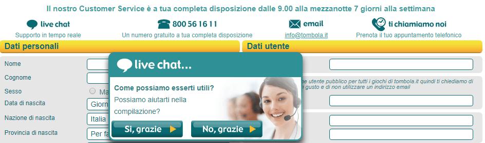 assistenza clienti tombola it