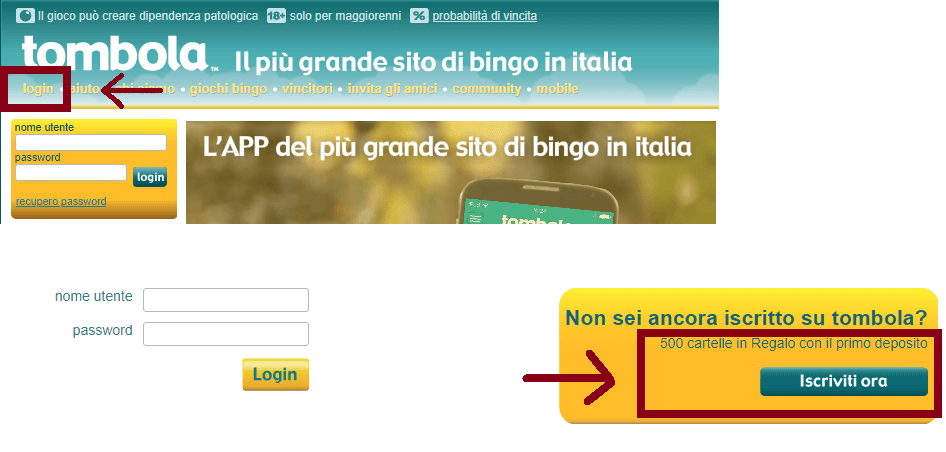tombola it iscrizione online