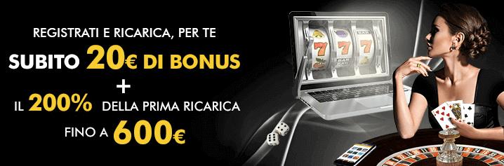 bonus benvenuto casino lottomatica