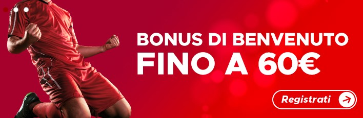 welcome bonus scommesse