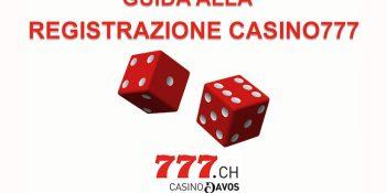guida alla registrazione casino777