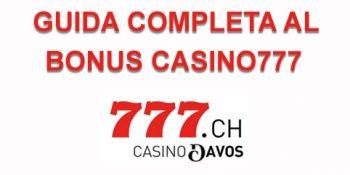 guida al bonus casino777